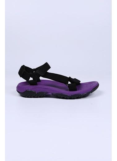 Female Project Mor-Siyah Cırtlı Sandalet Mor